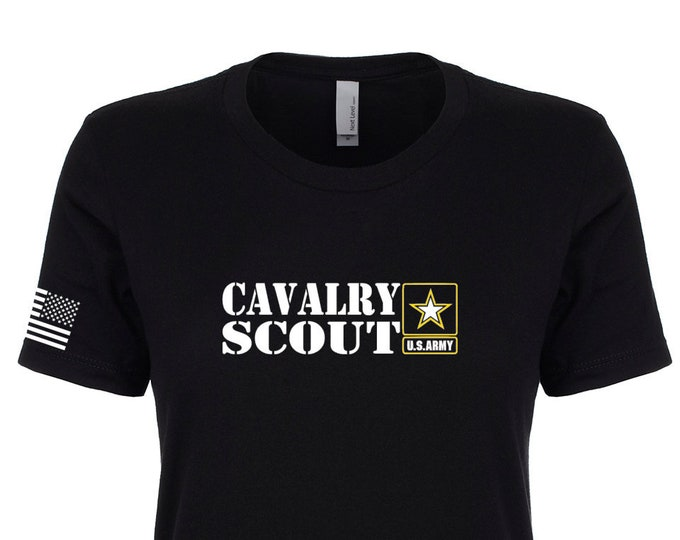Army Shirt - Women's - Cavalry Scout - Army National Guard - Army Veteran - Army Reserve - Crew Neck - Women's Casual Shirt - MOS 19 Delta