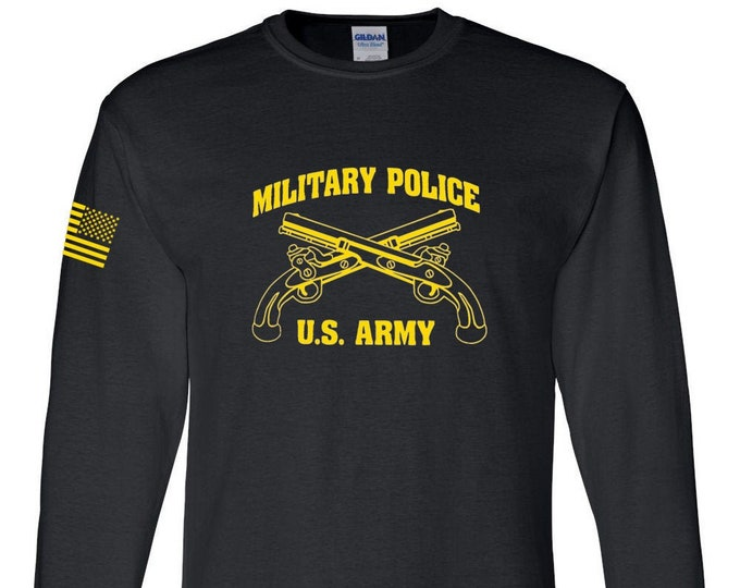 Army Shirt- Military Police - Long Sleeve - Mens and Womens Army Shirt - Army National Guard - Army Veteran - Army Reserve