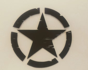 Army Invasion Star Set (2 Decals) - Distressed - Die Cut Vinyl Decal - Automotive Decal - Window Decal - Wall Decor - Military - Army