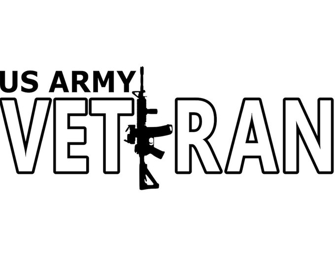 US Army - Veteran - Soldier - Vinyl Decal - Die Cut Vinyl Decal - Automotive Decal - Window Decal - National Guard - Army Reserve