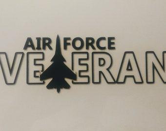 Air Force - USAF - Veteran - Airman - Military - Vinyl Decal - Die Cut Vinyl Decal - Auto Decal - Window Decal - Air Force Gift Idea