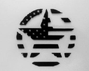Army Invasion Star - American Flag - Distressed - Die Cut Vinyl Decal - Automotive Decal - Window Decal - Wall Decor