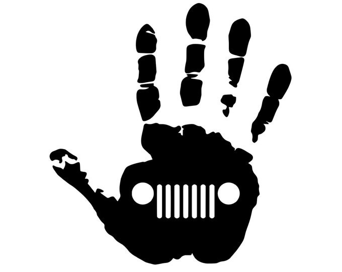 Jeep Wave - Jeep Life - Jeep Decal - Vinyl Decal - Die Cut Vinyl Decal - 4X4 - Off Road - Military - Auto Decal - Window Decal - Wall Decor