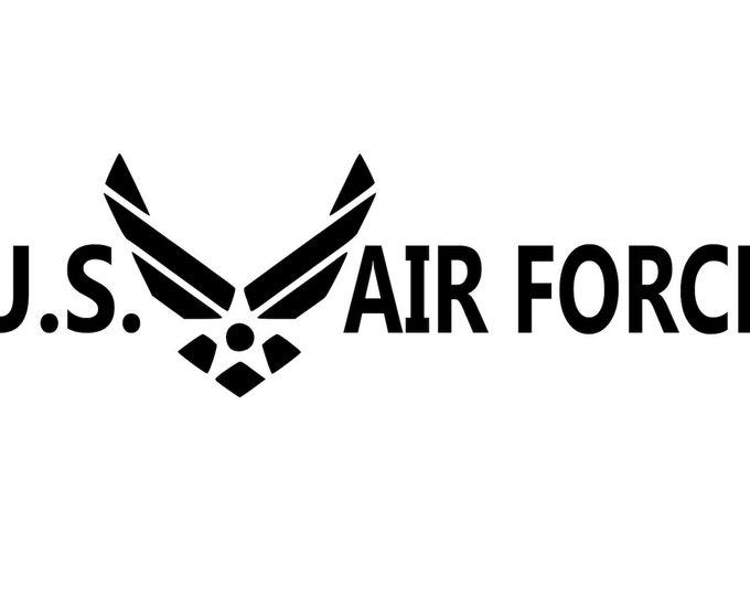 Air Force - USAF - Airman - Military - Veteran - Vinyl Decal - Die Cut Vinyl Decal - Auto Decal - Window Decal - Air Force Gift Idea