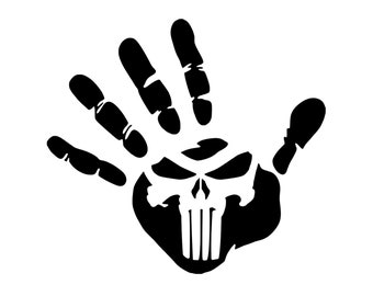Jeep Wave - Punisher - Jeep Life - Jeep Decal - Vinyl Decal - Die Cut Vinyl Decal - 4X4 - Off Road - Military - Auto/Window Decal - Outdoor