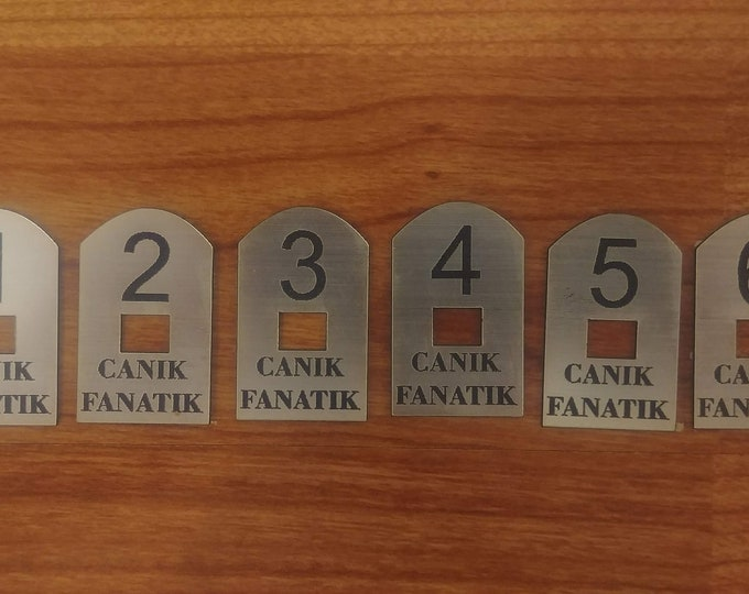 Canik Fanatik - Canik TP9 - Numbered Base Plates - Canik Guns - Canik Accessories