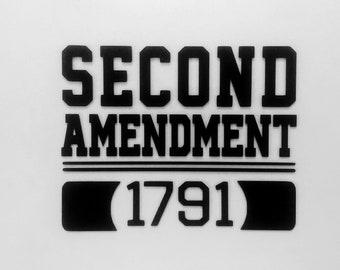 2A - Second Amendment - Vinyl Decal - Die Cut Vinyl Decal - Military - Automotive Decal - Window Decal - Wall Decor