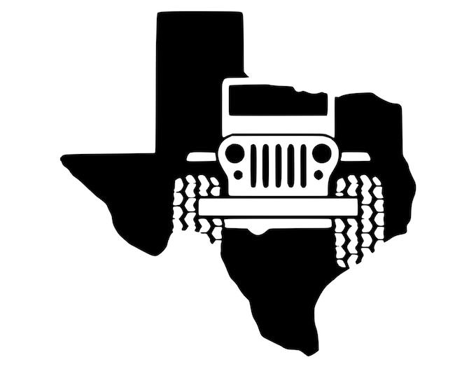 Texas Jeep - Jeep Life - Jeep Decal - Vinyl Decal - Die Cut Vinyl Decal - 4X4 - Off Road - Military - Auto Decal - Window Decal - Wall Decor
