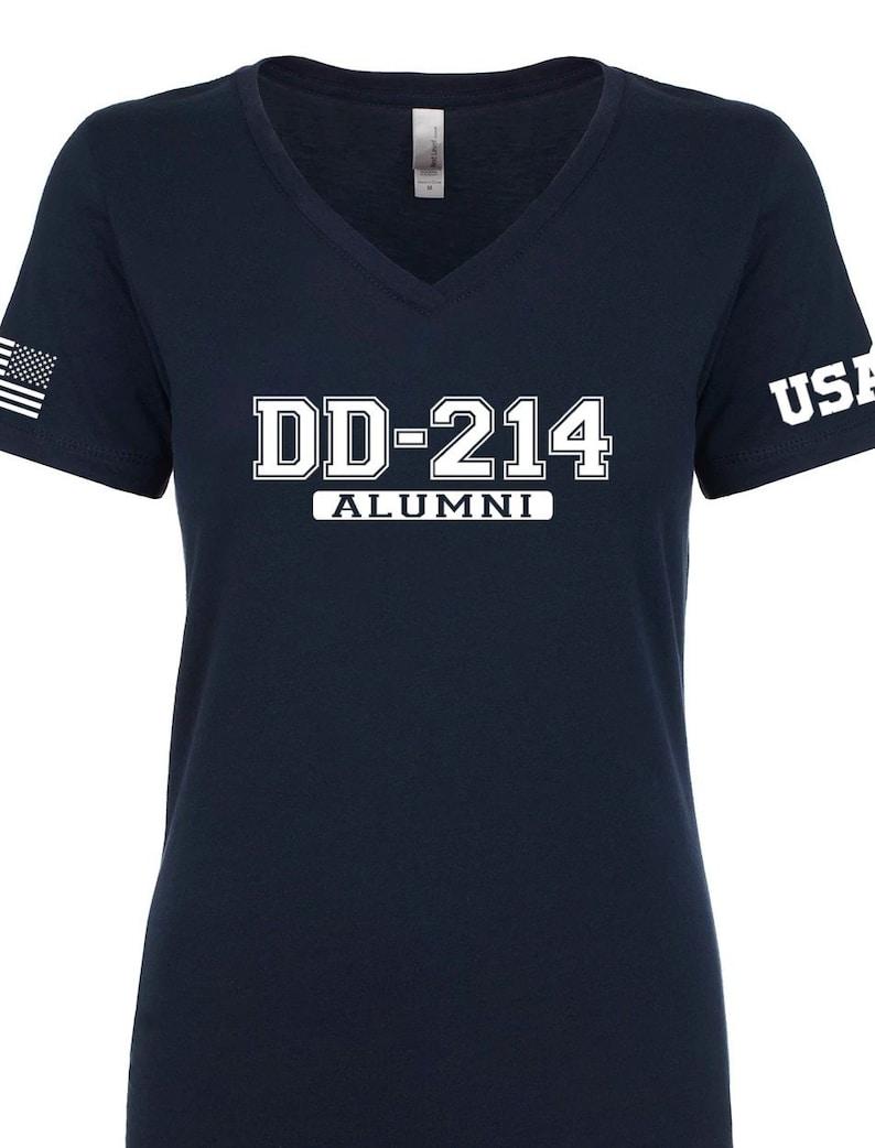 a31af49e139e Air Force Shirt Womens DD 214 Alumni V-Neck Shirt Air   Etsy