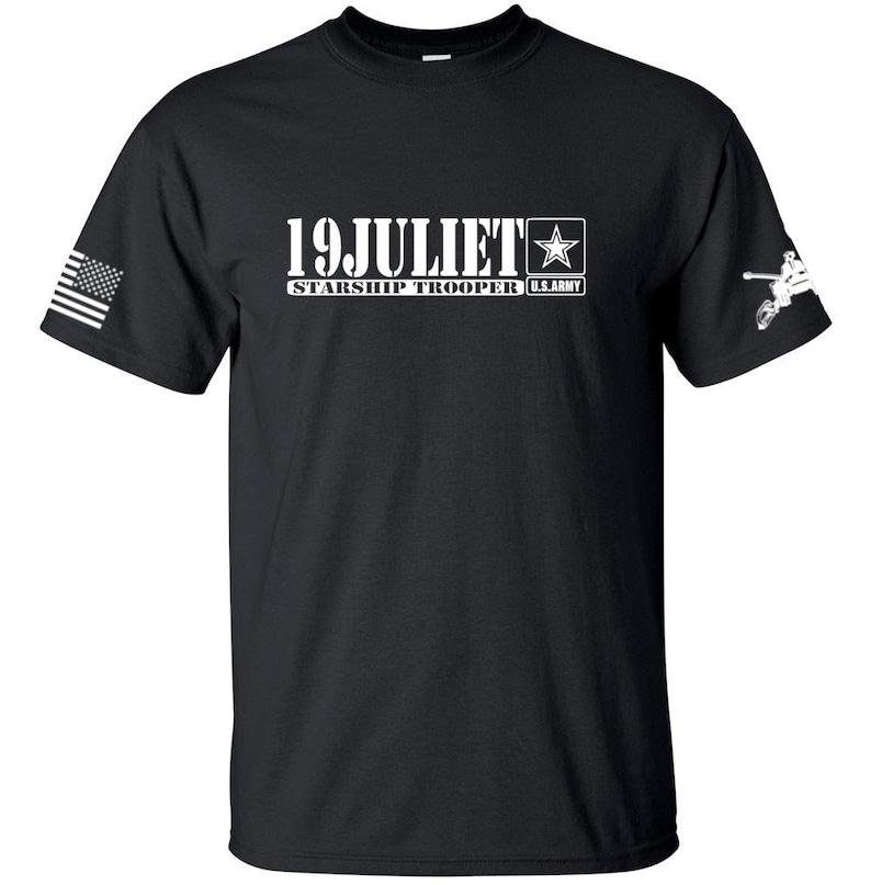 f526f36a1c55 Army Shirt 19 Juliet Starship Trooper Mens & Womens   Etsy