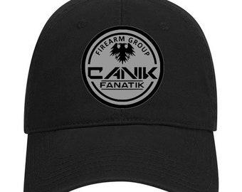 Canik Fanatik Hat - Embroidered Patch - Canik Hat - Canik Fanatik Firearm Group - Canik TP9 - Canik Guns - Unstructured Hat - Premium Hat