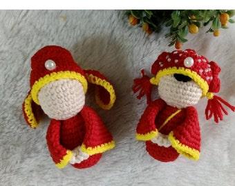 Chinese Wedding dolls – still in Amigurumi mode | Crafty Peachy Bunny | 270x340