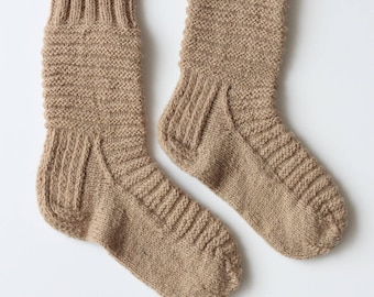Hand-knitted Wool Socks PUFF By VidaFelt - Size 37-39 - Free Shipping!