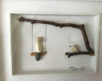 Swing (mixed media art)