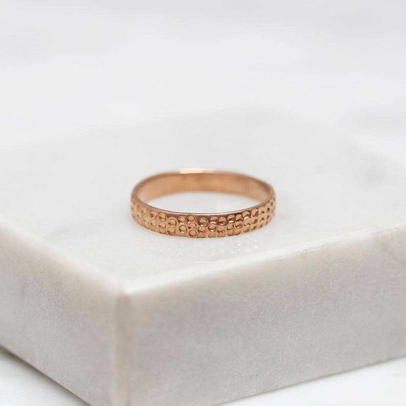 Stacking ring Light Gold Rose Gold Choice of Silver Hammered Stacking Sterling Silver Ring Handmade