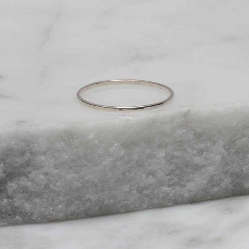 Handmade Light Gold Stacking ring Rose Gold Choice of Silver Stacking Square Shaped Sterling Silver Ring