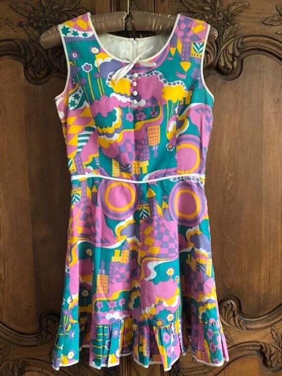 Peter Max attributed mini dress 1960s