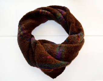 Women warm hand knitted scarf. Soft wool and acrylic scarf.
