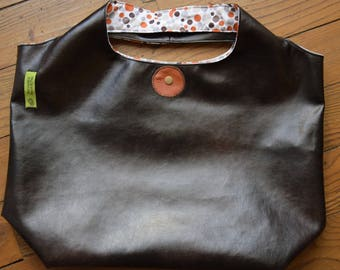 bag faux leather Brown/bubbles brown-orange-gray