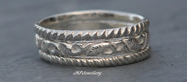 Seaside Rings Fish Rings Nautical Rings Silver Stacking Rings