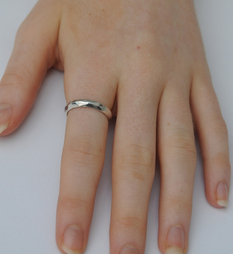 Silver Ring Faceted