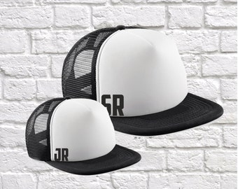 Sr Jr Matching Father Son Hats. Black/White (P*BC645/B645B)