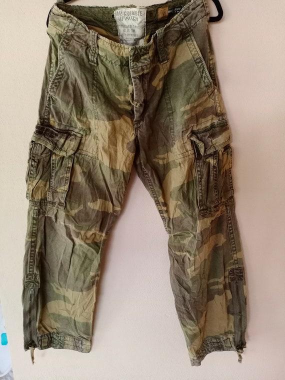 Rare vintage 90s Camo Military Tactical Cargo Pant