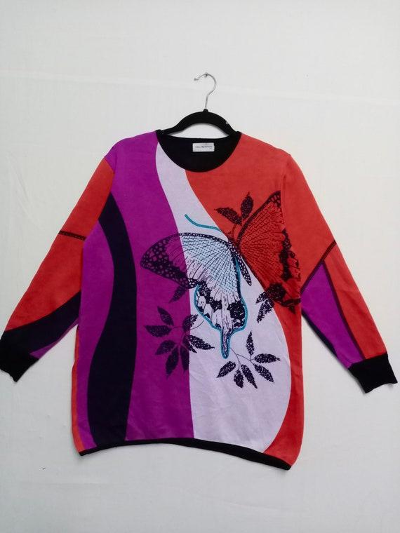 RARE Vtg Vera Valentino Multicoloured Patchwork Sw