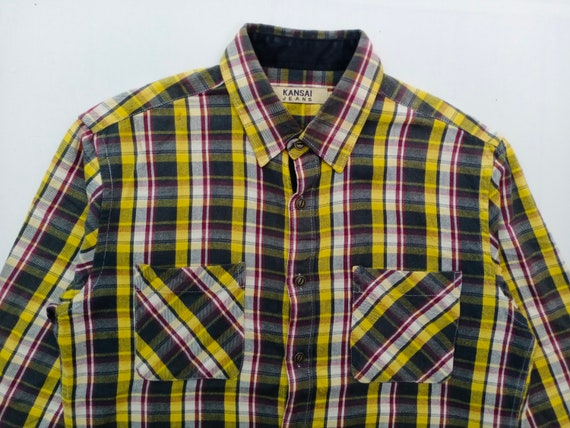 Vintage KANSAI JEANS Checkered Flannel Shirt