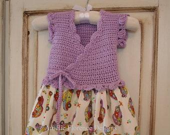 Cotton Dress, Crochet Dress, Baby Dress, Toddler Dress, Birth-4 Years, Summer Dress, Baby Girl Dress, Crochet Bodice, Hand Crochet