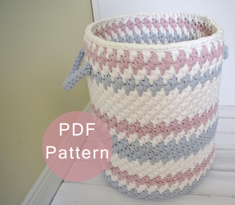 Crochet Pattern Crochet Basket Pattern Crochet Hamper Etsy