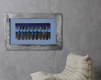 Luis by Cesar Vazquez   Symbolism   Surrealism   3D Painting   Sea stones   Art and Politics   Argentina History   Oil on Canvas   Painting