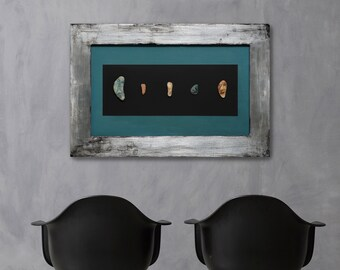 Sleeping Stones by Cesar Vazquez   Cycladic Stones   Stone Faces   Silver Frame   Natural/Raw Materials   Painting and Stones   Color Stones