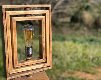 Unique Design Wooden Floor Lamp   Light   Wood Light   Adjustable Turning  Head   Modern   Contemporary   Original Design   Unique Art Piece