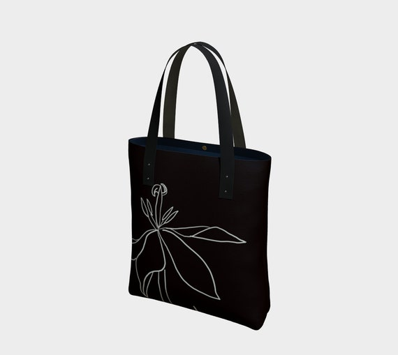 Regent's Park Tulip Bag, statement tote, sophisticated, black and white, art to go