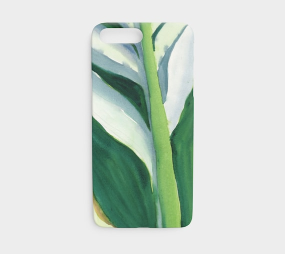 Variegated Green Leaf, iPhone 7 and 8 device case, art to go device case, art phone case,  Modern Watercolour, Tropical, Watercolour, bold