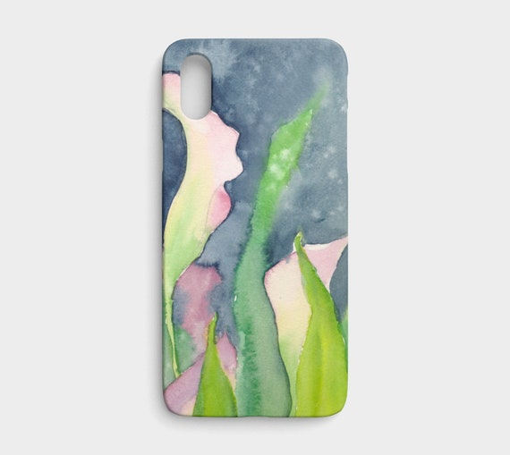 Pink Calla iphone X / XS device case, art phone case, watercolour phone case, floral phone case, modern, feminine, art to go
