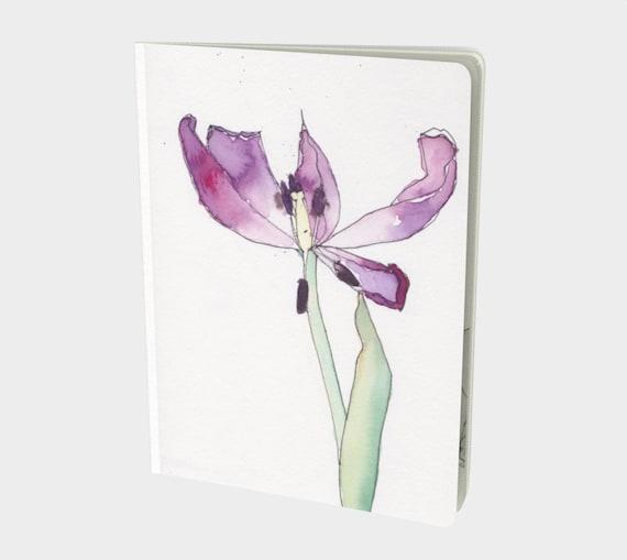 Tulips, notebook, sketchbook, watercolour