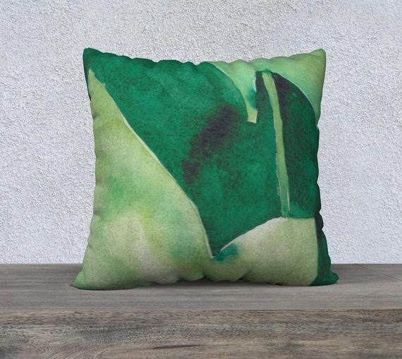 Wild Cucumber, floor pillow, decorative pillow cover, modern decor, watercolour