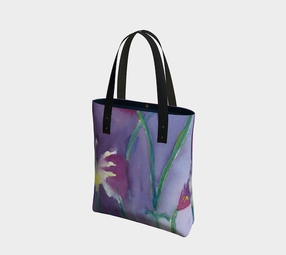 ultraviolet tote, watercolour wash