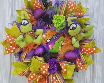 Ghost Wreath, Halloween Wreath for Front Door, Halloween Wreath, Vintage Halloween Decorations, Deco Mesh Wreath, Halloween Outdoor