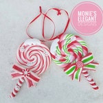Peppermint Lollipop Ornament, Peppermint Candy, Lollipop Decor, Pastel Christmas Decor, Pastel Ornament, Raz Christmas, Peppermint Tree