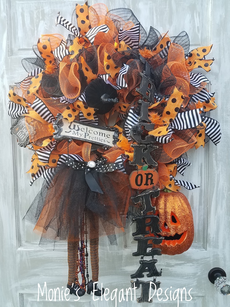 Halloween Wreath Halloween Decorations Outdoor Vintage image 0