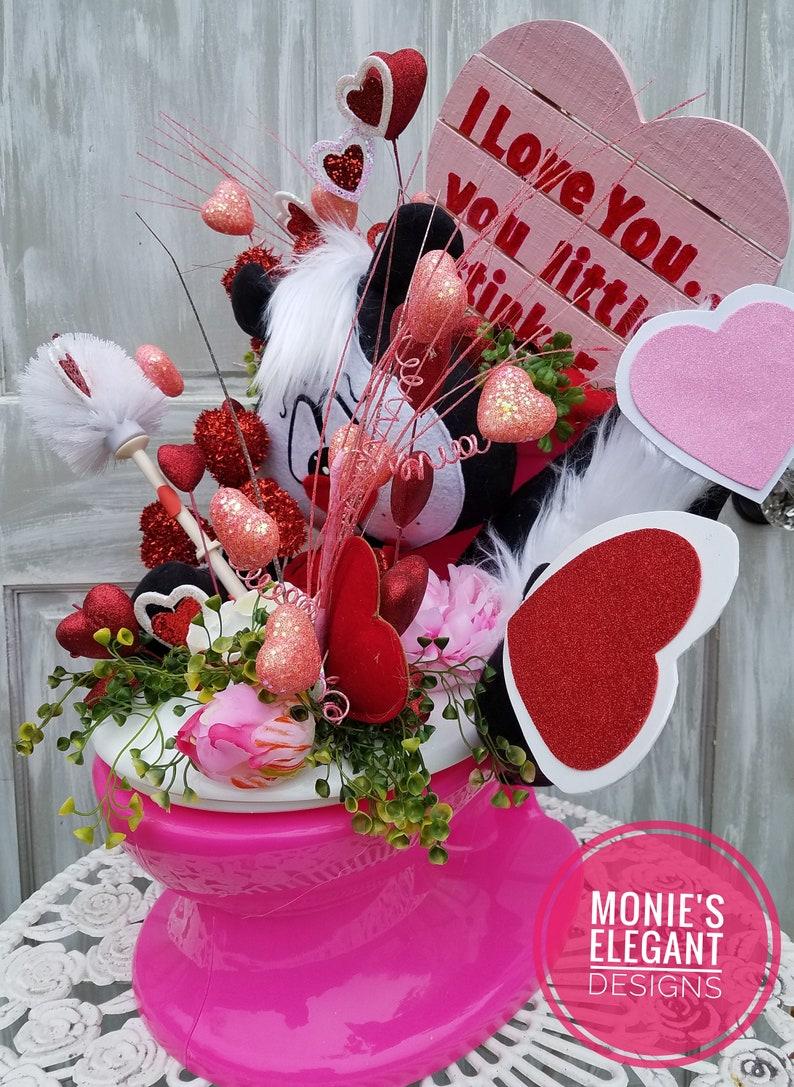 Valentines Centerpiece Valentine Decor Cupid Decor image 0