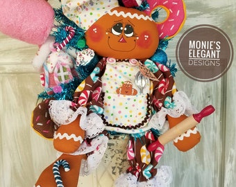 Gingerbread Tree, Gingerbread Doll, Christmas Centerpiece, Christmas Tree Decor, Cupcake Decor, Candy Apple Decor, Ice Cream Decor