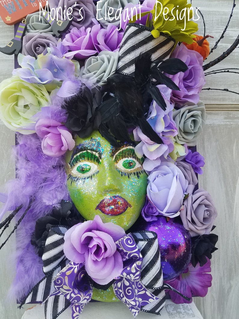 Witch Mannequin Head Display Everyday Wreaths on Picture image 0