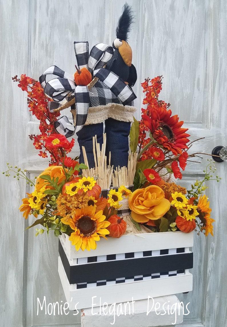 Fall Floral Arrangement Autumn Centerpiece Autumn Decor image 0