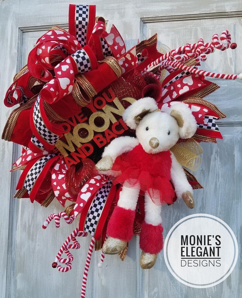 Valentine Wreath Valentine Decor Valentine Door Love image 0