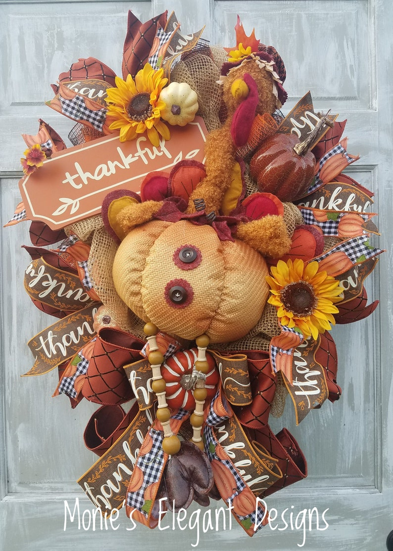 Fall Swag Wreath FREE SHIPPING Fall Autumn Harvest Swag image 0