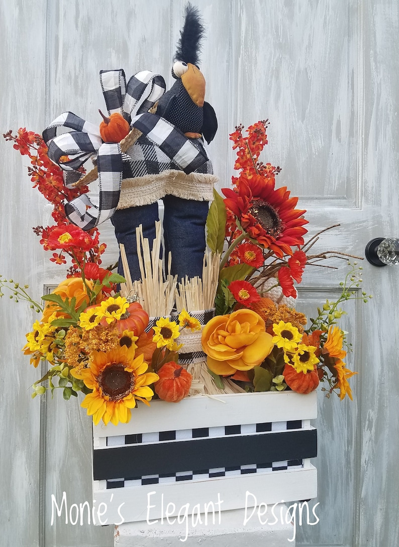 Fall Floral Arrangement Autumn Centerpiece Autumn Decor image 0